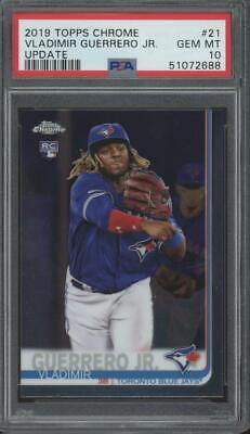 2019 Topps Chrome Update #21 Vladimir Guerrero Jr RC Rookie Gem Mint PSA 10
