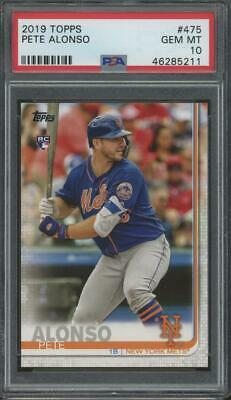 2019 Topps #475 Pete Alonso RC Rookie Gem Mint PSA 10