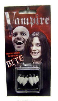 PROFESSIONAL THREE TOOTH VAMPIRE FANGS real looking teeth JN115 fake - Real Vampire Teeth