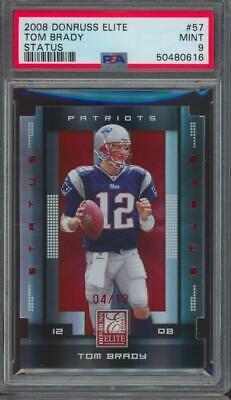 2008 Panini Donruss Elite Status #57 Tom Brady 4/12 Pop 1 Mint PSA 9