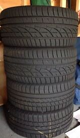 BMW Almost brand new tyres - full set will fit all series cost over 850 new