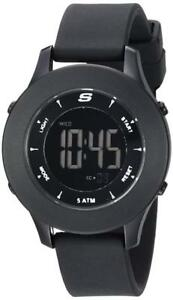 NEW Skechers Women's Rosencrans Mini Digital Plastic and Silicone Casual Watch, Color: Black