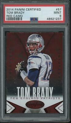 2014 Panini Certified Red Camo #57 Tom Brady Mint PSA 9