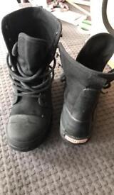 Hunter black canvas half calf boots size 3