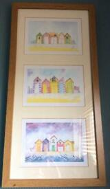 3 in 1 Beach Huts Framed Prints