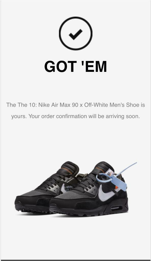 Nike air max 90 X OFF WHITE UK 9  59975ce48