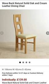 4x Solid Oak dining chairs