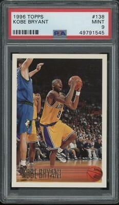 1996 Topps #138 Kobe Bryant RC Rookie Mint PSA 9