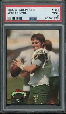 1992 Topps Stadium Club #683 Brett Favre RC Rookie Mint PSA 9