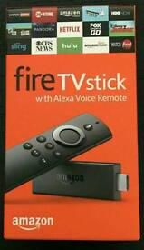 New Amazon 2nd generation firestick with ALEXA voice remote ready to plug and play