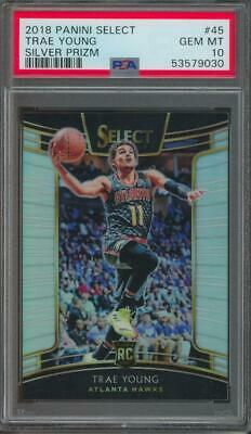 2018 Panini Select Silver Prizm #45 Trae Young RC Rookie Gem Mint PSA 10