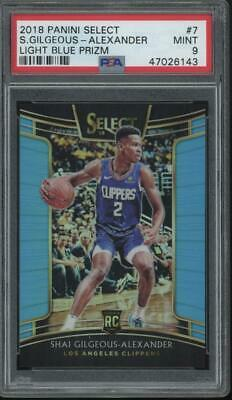 2018 Panini Select Light Blue Prizm #7 Shai Gilgeous Alexander/299 RC Mint PSA 9