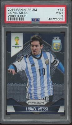 2014 Panini Prizm World Cup #12 Lionel Messi Mint PSA 9