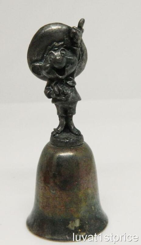 WARNER BROS 1987 SPEEDY GONZALES Silver Collectible Bell