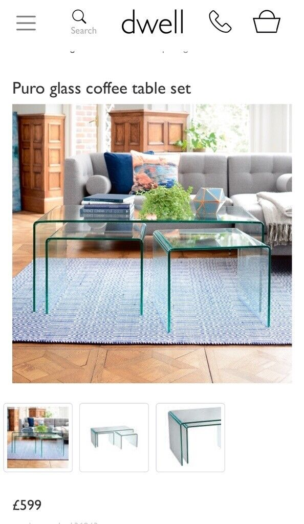 Glass Coffee Table Dwell In Chelmsford Essex Gumtree