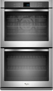 Whirlpool WOD93EC0AS 30 Double Wall Oven With Both Compartments Self Clean