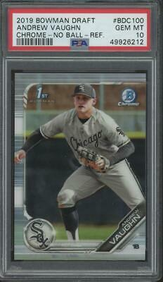 2019 Bowman Chrome No Ball Refractor #BDC100 Andrew Vaughn RC Gem Mint PSA 10