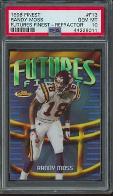 1998 Topps Finest Futures Finest Refractor Randy Moss 24/75 RC Gem Mint PSA 10