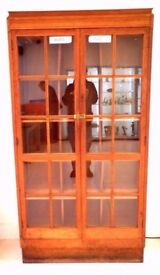 GENUINE ART DECO 1930,S LIGHT OAK VINTAGE RETRO HABERDASHERS CLOTHING SHOP DISPLAY CABINET V.G.C.