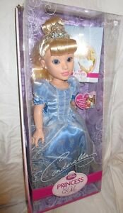 NEW-Disney-Princess-amp-Me-Cinderella-Doll-1st-Edition-18-034-Blue-Dress-NIB