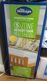 SilentNight Memory Foam Mattress King Size (150cm) - 1 month of use