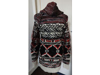 New Ladies 'Ethnic' Style Hooded Cardigan with Zip