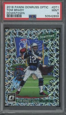 2018 Panini Donruss Optic Downtown #DT1 Tom Brady SP Case Hit Mint PSA 9