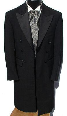 40S Black Long Frock Coat Western Style Costume Victorian Civil War