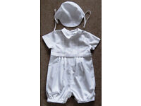 Boys Christening Outfit by Sarah Louise. Age 6 months