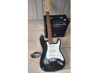 John Hornby Skewes Encore 6 String Electric Guitar and Peavey Rage 158 Amp