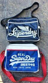 2 TWO ORIGINAL GENUINE SUPERDRY SPORT BAG SUPER DRY MAN BAG MANBAG SPORTS COURIER LAPTOP SCHOOL