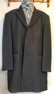 CIGLIANO ITALY Mens Brand New 44L Black Wool Coat - Free Scarf - OAKVILLE PICKUP or Shipping GTA