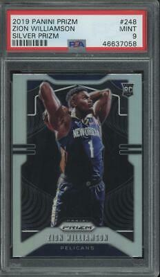 2019 Panini Prizm Silver #248 Zion Williamson RC Rookie Mint PSA 9