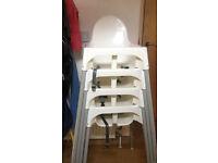 4 x plastic childrens high chairs