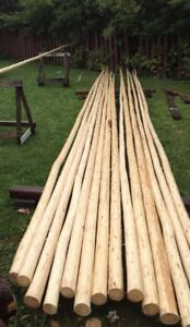 Wooden round long straight pole stick 24f. One left. Your offer?