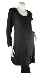 MATERNITY BOUTIQUE Liquidation SALE! Soft Jersey Knit Tunic Dress Chocolate Brown Large