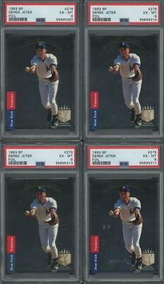 1993 SP Foil #279 Derek Jeter NY Yankees RC Rookie EX-MT PSA 6 Lot of 4