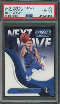 2018 Panini Threads Next Wave #3 Luka Doncic RC Rookie Gem Mint PSA 10