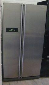 Stainless Samsung American style fridge freezer