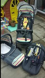 HAUCK WINNIE THE POOH 3 IN 1 TRAVEL SYSTEM