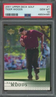2001 Upper Deck Golf #1 Tiger Woods RC Rookie Gem Mint PSA 10