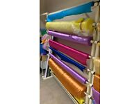 Heavy Duty 2m x 1.65m Metal Fabric Rack Stands. Hold 8 Rolls up to 1.5m wide. 3 AVAILABLE