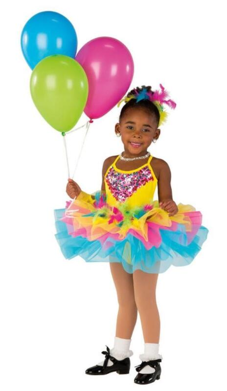 Dance Costume Small Child Yellow Sequin Tutu Ballet Tap Solo Competition Pageant