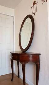 Classic Solid wood console table and mirror set - WEMBLEY
