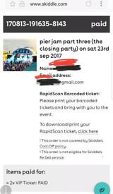 RAVE PARTY PIER JAM VIP TICKETS