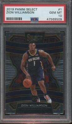 2019 Panini Select #1 Zion Williamson RC Rookie Gem Mint PSA 10