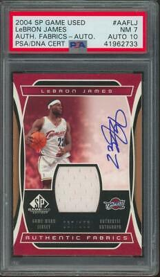 2004 SP Game Used Lebron James 67/100 Jersey PSA/DNA 7 10 Auto