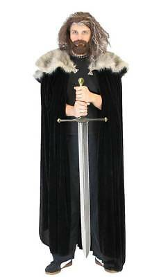 Game of Thrones Medieval North King Ned Stark Fur Costume Cloak Cape (Ned Stark Costume)