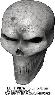 Bone Skull Decal By Itigd   Sticker Badge Emblem Car Truck Motorcycle Boat Atv
