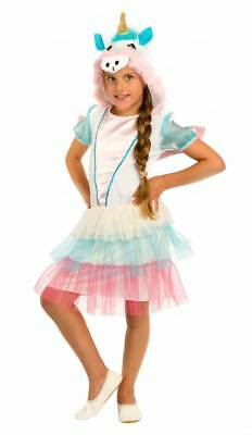 DELUXE Einhorn Kostüm Kinder Mädchen Einhornkleid Karneval Fasching Unicorn (Weißes Einhorn Kostüm)